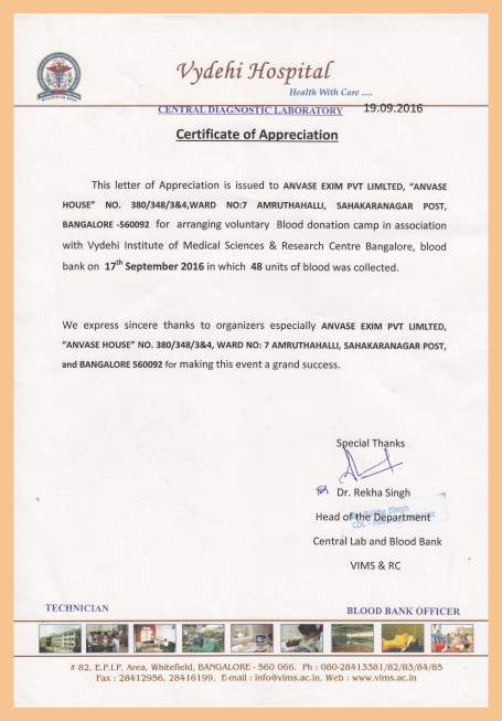 Anvase blood donation certification yelopaper Choice Image
